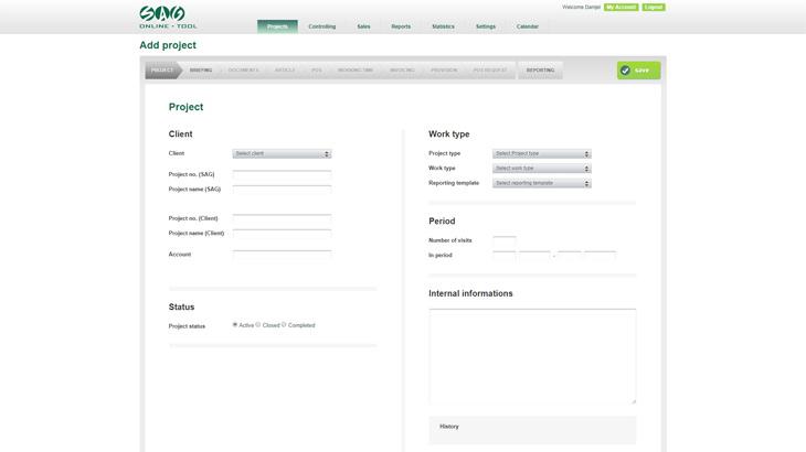 SAG online tool